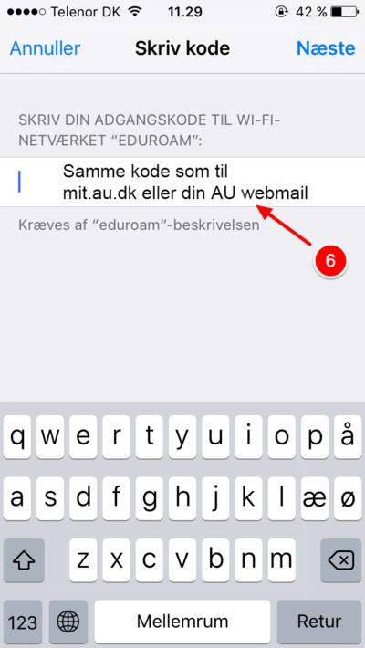 skift adgangskode iphone